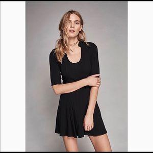 Free People Jolene Black Skater Dress